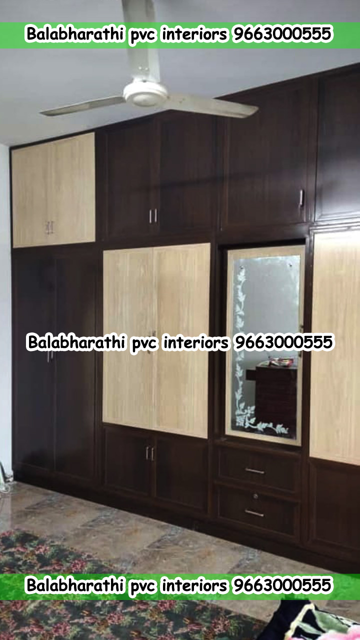 pvc dressing table with wardrobe design hosur