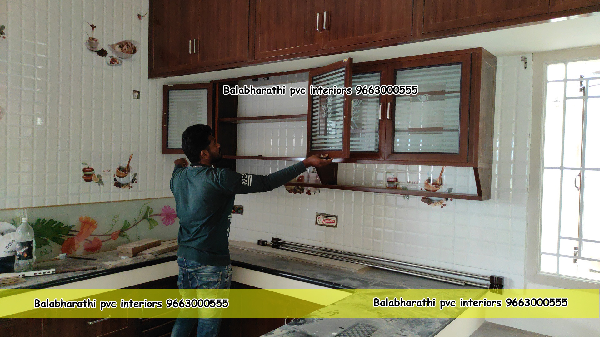 pvc kitchen cabinets work anantapur